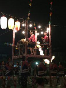 盆踊りを踊る人達