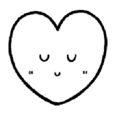 ハート笑顔